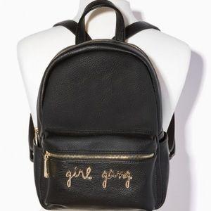 57f95ab9a Charming Charlie Bags - Girl Gang black pebble backpack bag cute!